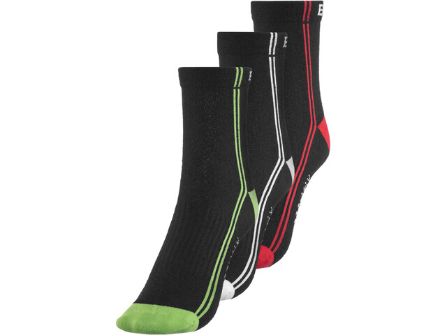 Endura CoolMax Stripe II Chaussettes TriplePack, black